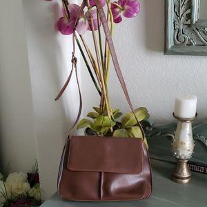 Vintage Liz Claiborne Brown Crossbody Shoulder Bag